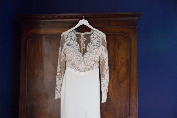 Wedding dress ready for bride