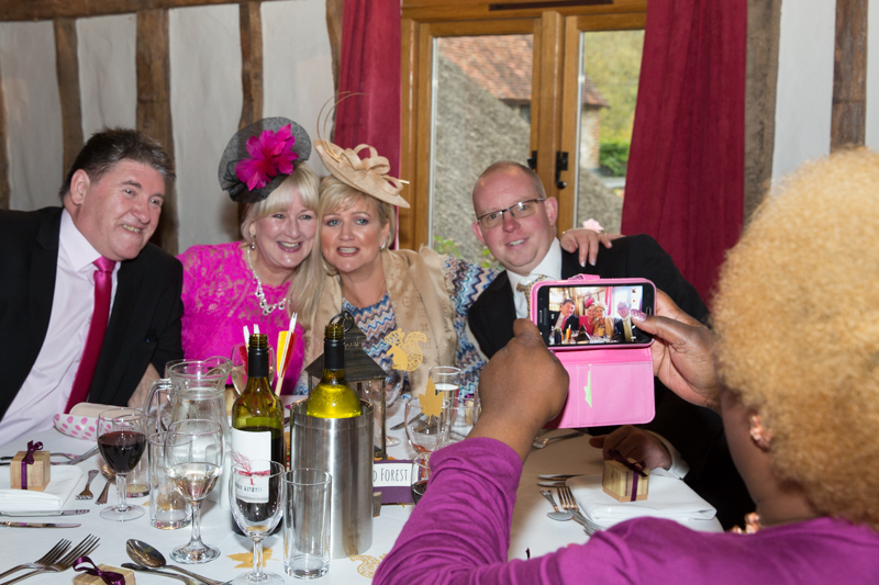 Guests taking a photo at Crown Inn Pishill