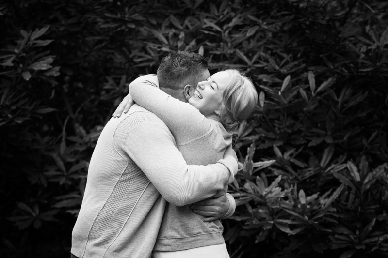 Couple on their pre wedding shoot at virginia water
