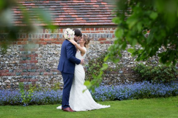 Bride and Groom in romantic portrait at Henley teepee wedding
