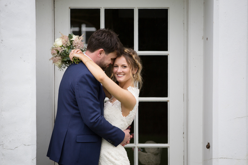 Couple in love at their Henley wedding