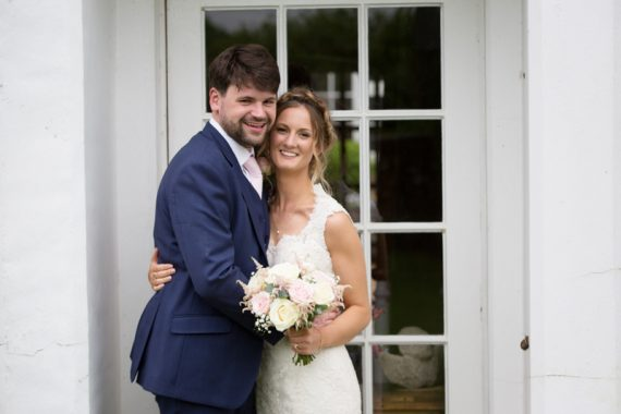 Bride and Groom at their Henley Teepee wedding