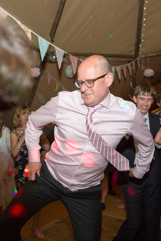 Dad dancing at Henley teepee wedding