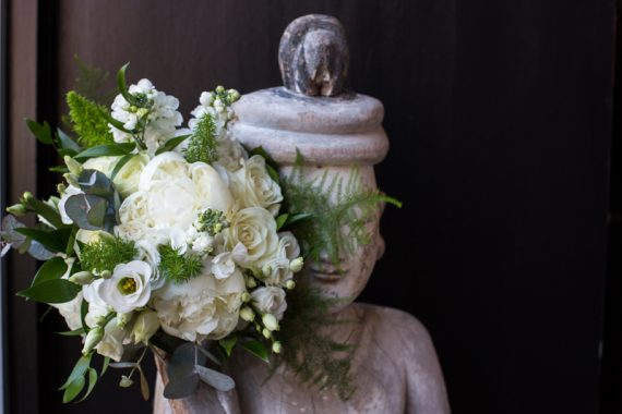 Bridal bouquet at Hotel du Vin in Henley