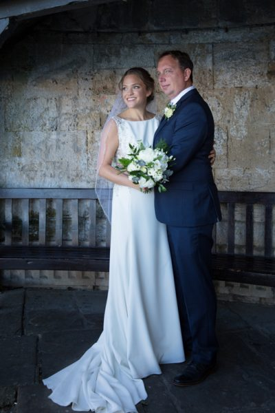 Bride and Groom portrait in Henley on Thames