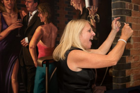 Dancing fun at wedding in Hotel du Vin in Henley on Thames