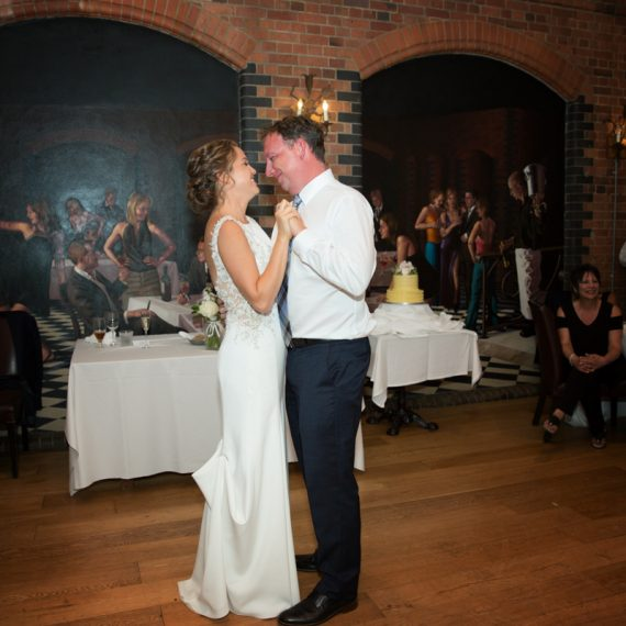 Couple at their first dance in Hotel du Vin in Henley