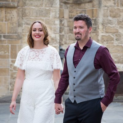 Bride and Groom at their Oxford wedding