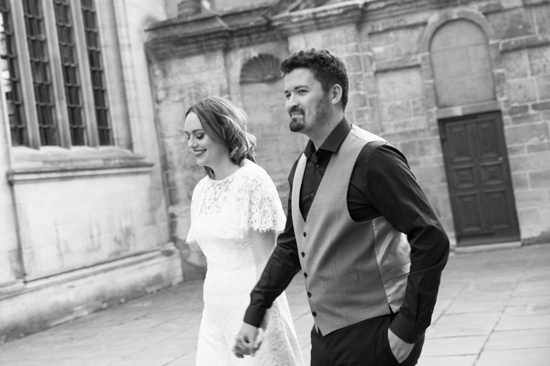 Couple at their wedding in Oxford