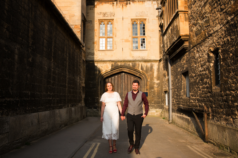 Bride and Groom in Oxford at their wedding