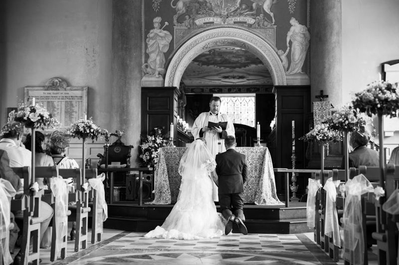Couple at the alter at St Lawrence Church Wedding in West Wycombe