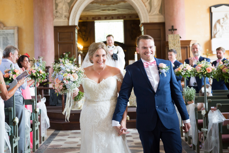 Just married at St Lawrence Church in West Wycombe