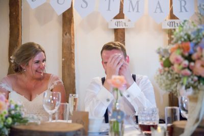 Embarassing speeches at Notley Tythe Barn wedding