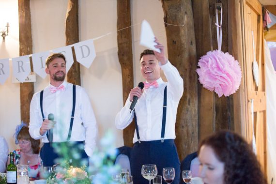 Best man speech at Notley Tythe Barn
