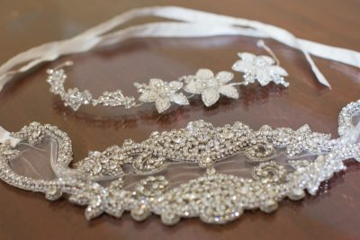 Headpieces for wedding at Remenham Club in Henley
