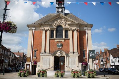 Outside view of Henley Town Hall