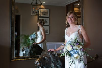 Bridal portrait at Red Lion Hotel in Henley