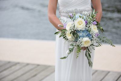 Beautiful bridal bouquet at wedding in Henley