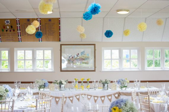 Wedding decor at Remenham Club in Henley