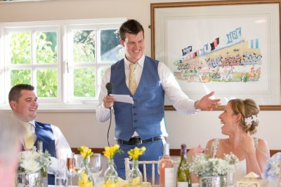 Groom's speech at Remenham Club in Henley on Thames