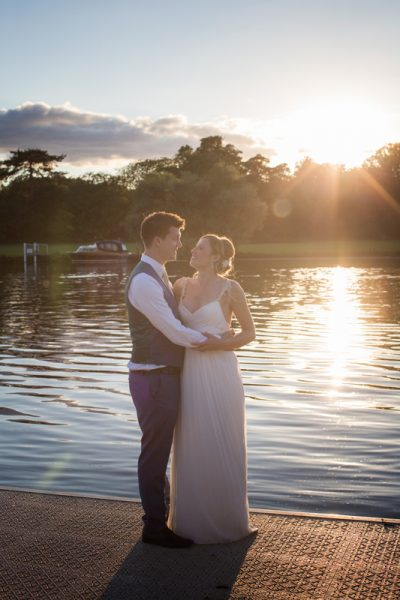 Bride and Groom by the River Thames in Henley