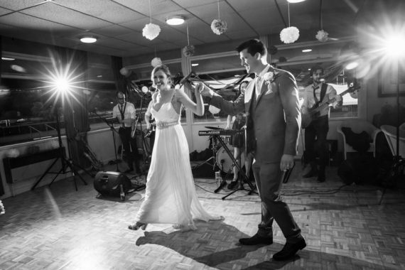 Couple during their first dance at Remenham Club in Henley