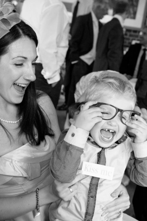 Mum with her child at wedding