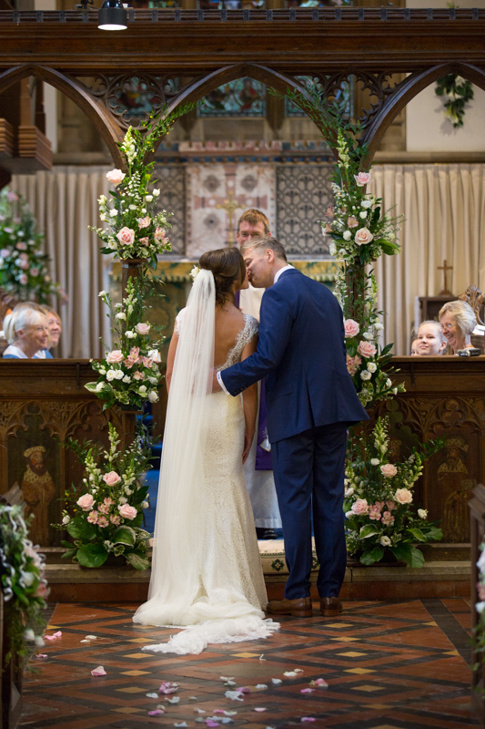 First kiss in St Dustan's Church in Monks Risborough