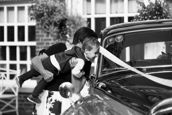 Cute pageboy shot at wedding at Compleat Angler in Marlow