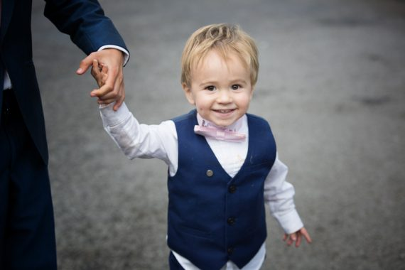 Cute pageboy at wedding in Marlow