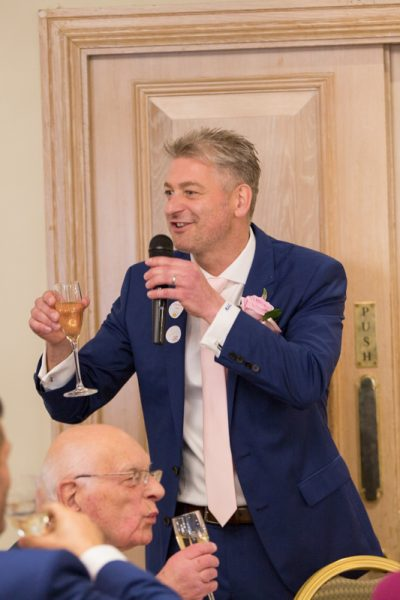 Groom speech shot at Compleat Angler