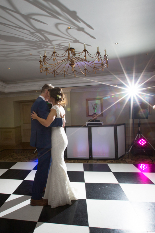Couple doing their first dance at Compleat Angler in Marlow