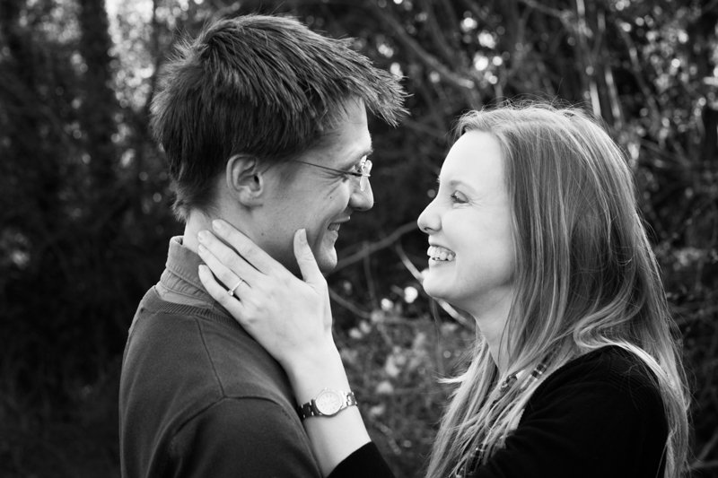 Happy shot of couple during a pre wedding shoot